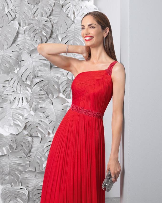 Modelos de vestidos elegantes rojos