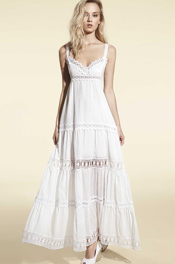Vestidos ibicencos En nuestra tienda online encontrarás vestidos ibicencos de diseños únicos, porque somos distribuidores y fabricantes. Con nosotros no sólo encontrarás el típico vestido ibicenco blanco sino también vestidos con encajes coloridos de estilo boho chic.