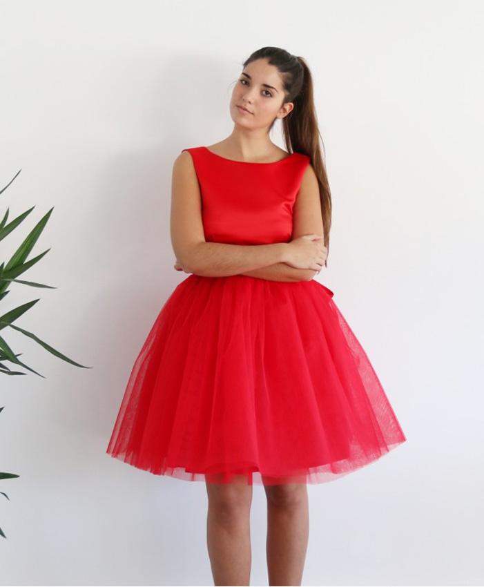 Vestidos De Fiesta De Tul Elegancia Y Distinción Foto 1