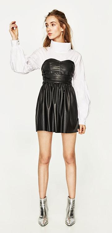 ¿Te atreves con los vestidos  efecto piel   Descubre lo último de Zara ecc893befa1c