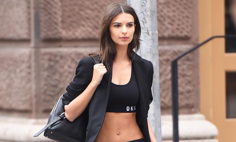 De Emily Ratajkowski a Kylie Jenner, ellas quieren hacer del sujetador deportivo el nuevo 'top'