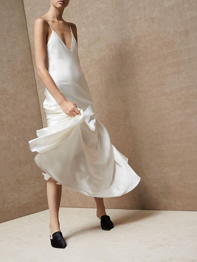 Vestidos de fiesta punto de seda