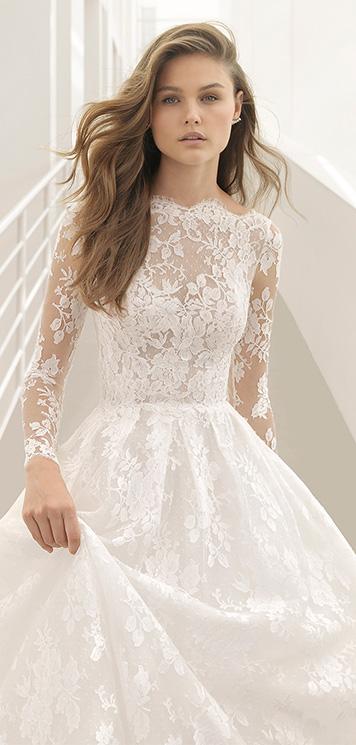 f3f400a43 Vestidos de novia de Rosa Clará  sedas y bordados en la colección Couture  2018