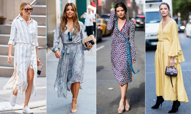 Éste (y sólo éste) es el vestido que necesitarás durante el entretiempo, palabra de 'street style'