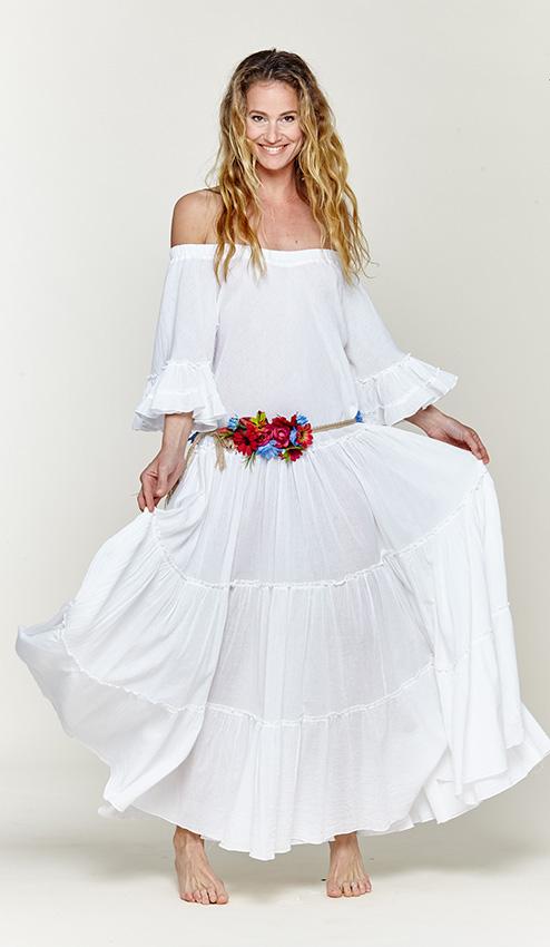 Los Vestidos Ibicencos Tambien Son Para El Otono Foto - Vestido-blanco-largo-ibicenco