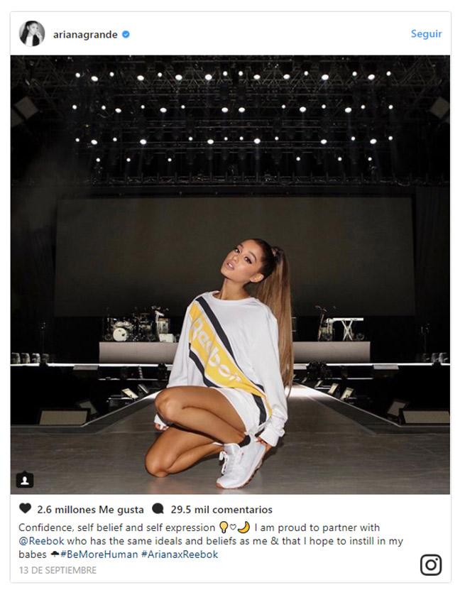 venta minorista 28729 e11e8 Ariana Grande vuelve a estar inspirada gracias a su firma ...