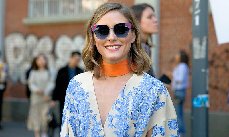 Olivia Palermo revienta el 'choker' en la Semana de la Moda de Milán