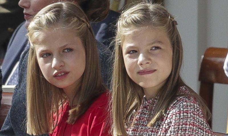 La princesa Leonor y la infanta Sofía, las otras protagonistas en el Día de la Fiesta Nacional