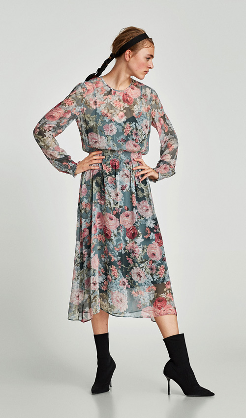 Vestidos manga larga de zara