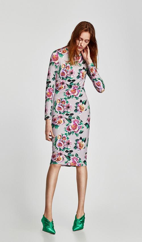 1689e996b Diez vestidos de Zara que confirman que las flores también son para ...