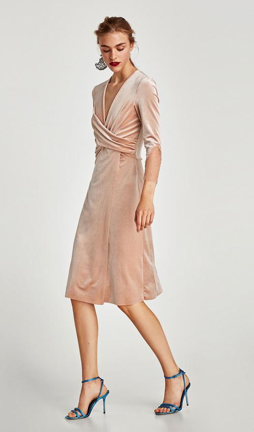 Vestidos Zara De Terciopelo Para Looks De Otoño Cálidos
