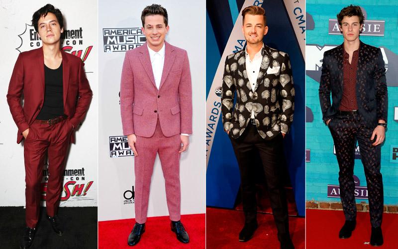 Moda masculina  Trajes de chaqueta en  technicolor  para estas ... 056b3f94045