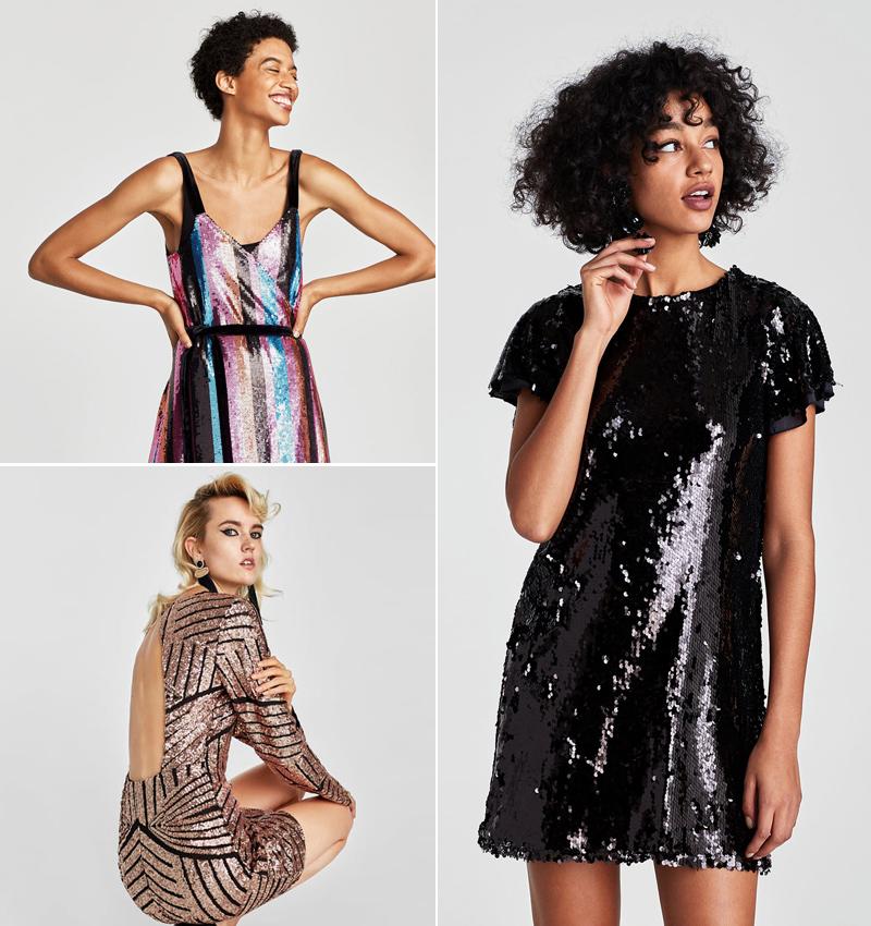 otra oportunidad venta caliente bien fuera x Ocho vestidos de Zara para ponerle un toque brillante al ...