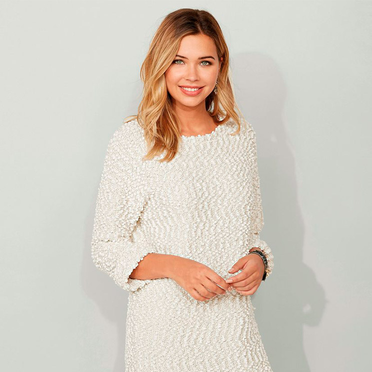 Vestido blanco largo venca