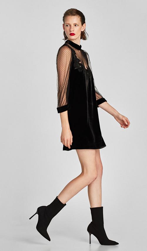 b8c6af360 vestidos negros de Zara para recibir el nuevo año con un toque ...