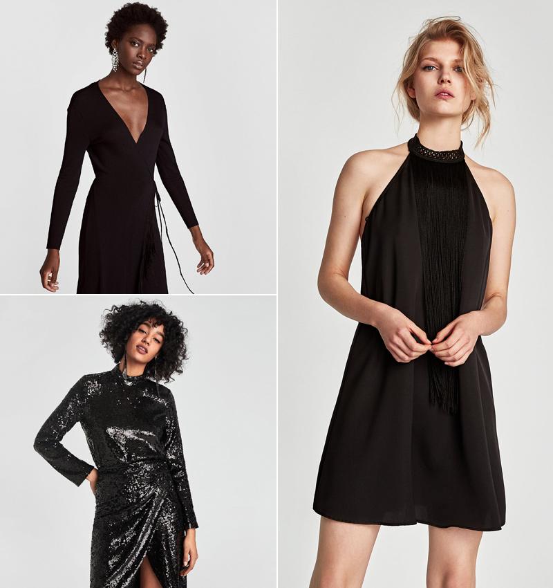 Combinar vestido negro nochevieja