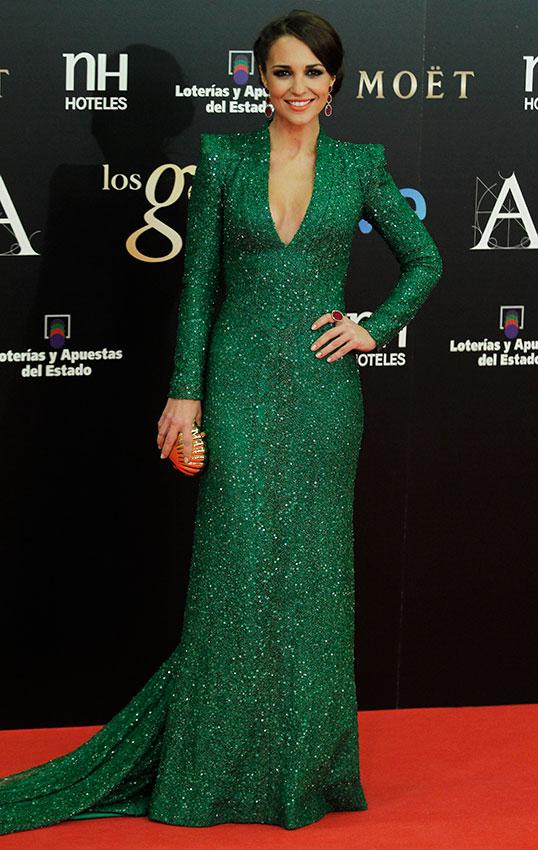 Paula echevarria vestido verde agua