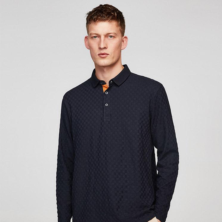 zara camisa hombre manga corta azul