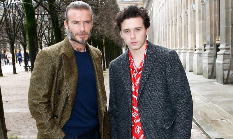 David y Brooklyn Beckham, duelo de estilo masculino en París