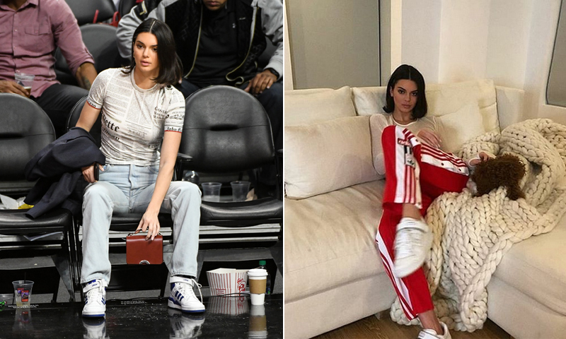 Kendall Jenner con deportivas