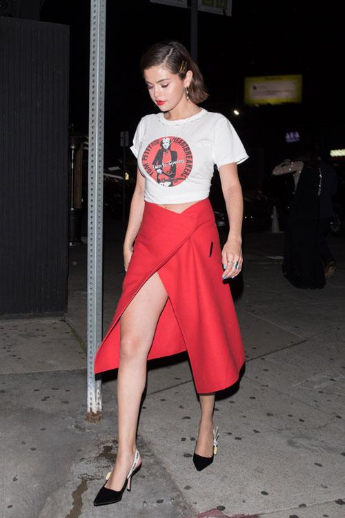 Gomez en salida una Selena durante Ángeles Los OgdBxqx