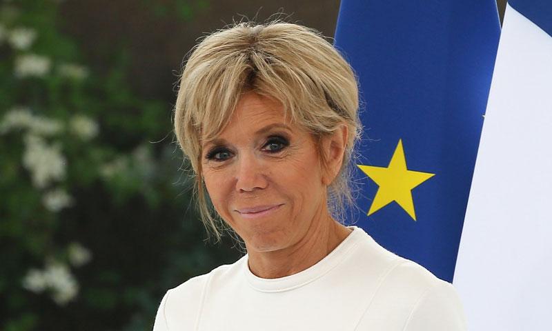 El perfecto 'working denim' de Brigitte Macron