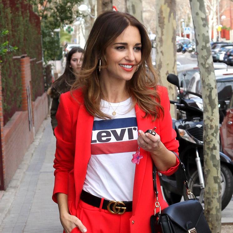 Paula Echevarría y otro traje pastel  low cost  - Foto e9813e3a4ba