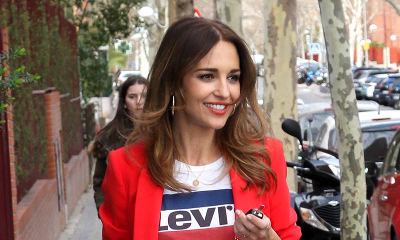 Paula Echevarría y otro traje pastel 'low cost'