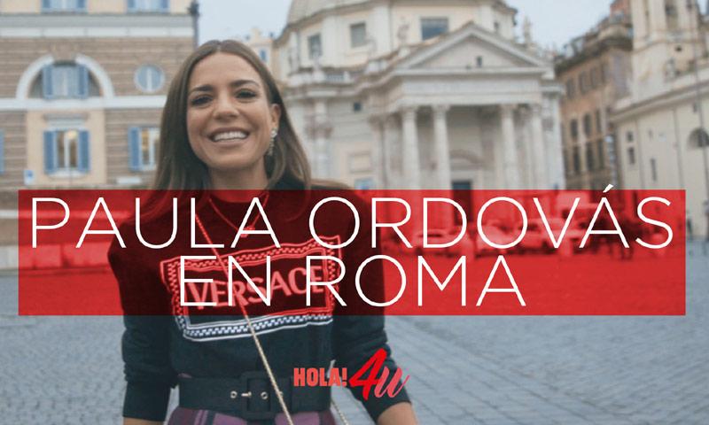 En HOLA!4u, un día y tres 'looks' en Roma con Paula Ordovás