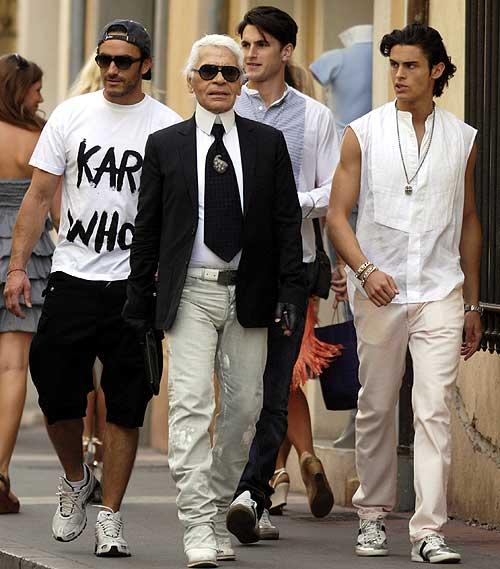 Karl Lagerfeld, junto con sus modelos preferidos, de vacaciones en Saint Tropez