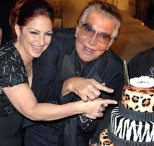 Roberto Cavalli, junto a Gloria Estefan, celebra su cumpleaños más solidario