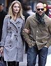 La modelo Rosie Huntington-Whiteley y el actor Jason Statham, dos enamorados de paseo por Nueva York