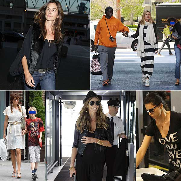 Heidi Klum, Elle Macpherson, Adrina Lima... ¿Cómo han pasado el fin de semana las 'top models' más famosas?