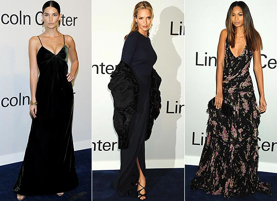 Lily Aldridge, Uma Thurman y Chanel Iman