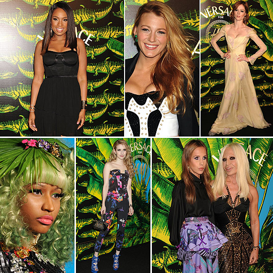 Desfile de 'celebrities' en la fiesta de presentación de la colección de Versace para H&M