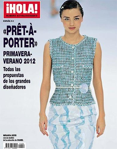 Miranda Kerr, protagonista de la portada del especial moda 'prêt-à-porter' primavera-verano 2012 de la revista ¡HOLA!