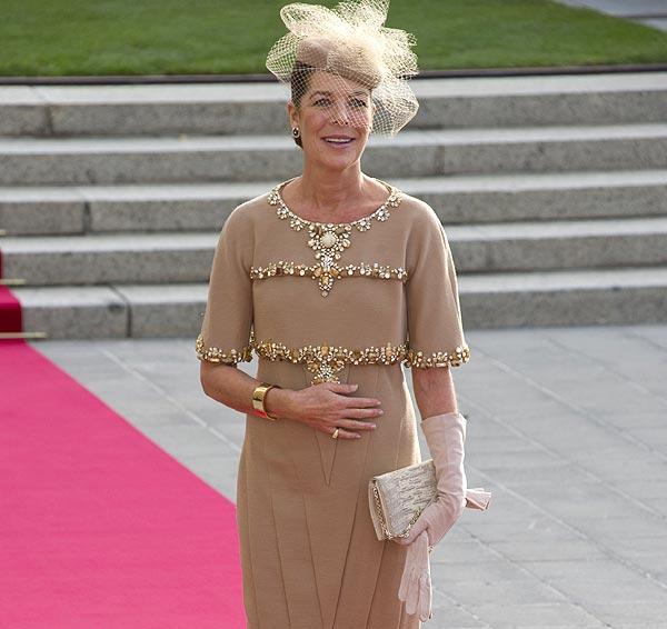 Carolina de Mónaco y su 'Chanel' en la Boda Real de Luxemburgo: un diseño de portada