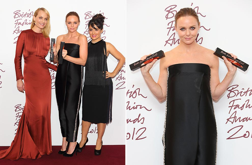 Stella McCartney, gran triunfadora de los 'British Fashion Awards' 2012