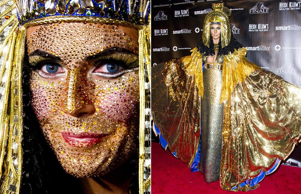 Heidi Klum, convertida en una espectacular Cleopatra de cristal