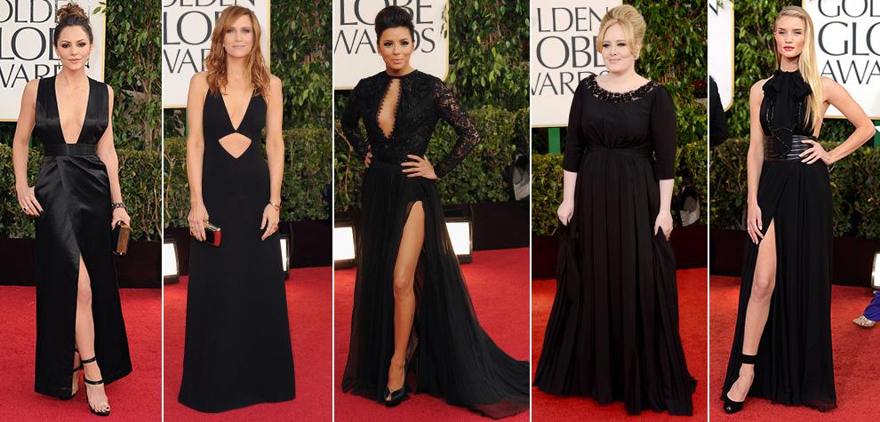 3307efd6d71 NEGRO  Es un básico de elegancia y uno de los colores favoritos de las  celebrities para pasear por la alfombra roja. La de los Globo de Oro 2013  no ha sido ...
