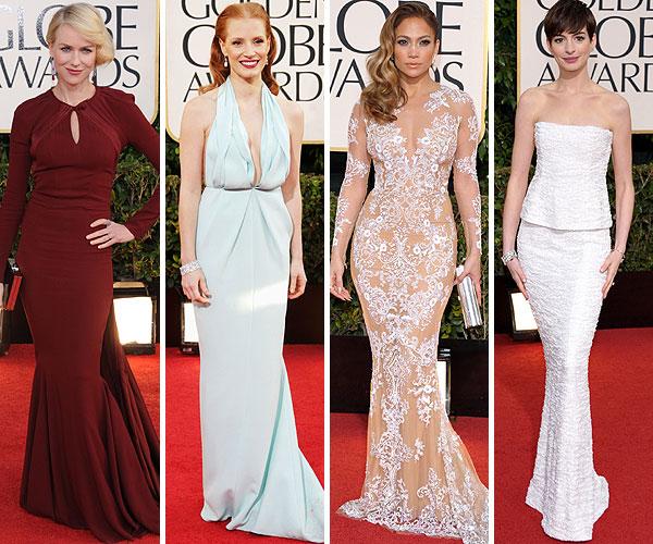 Foto a foto, los mejores 'looks' de la alfombra roja de los Globo de Oro 2013