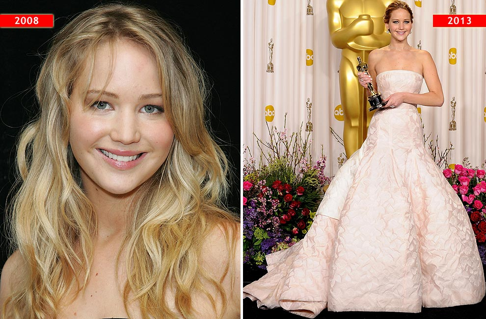 'Red Carpet': La evolución del estilo de… Jennifer Lawrence