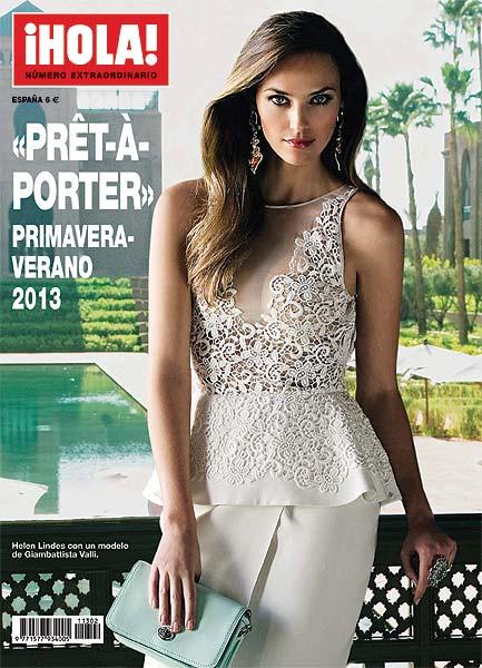 Helen Lindes, espectacular, en la portada del especial ¡HOLA! moda 'prêt-à-porter' para primavera-verano 2013