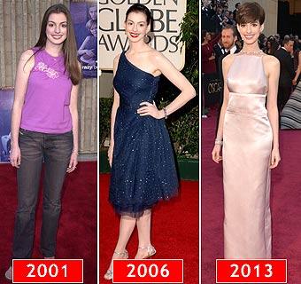 'Red Carpet': La evolución del estilo de… Anne Hathaway