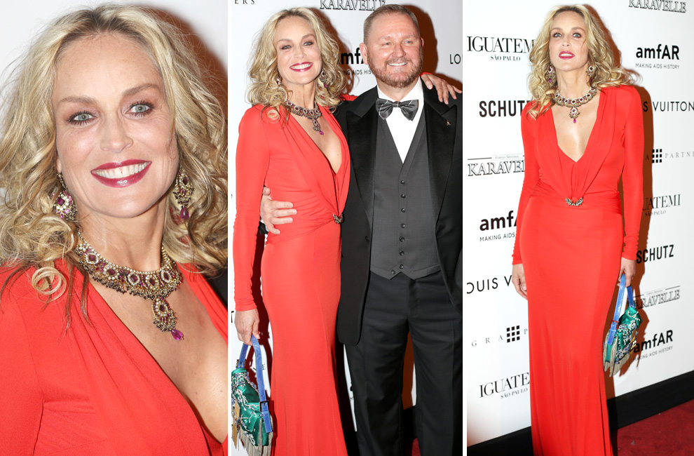 Sharon Stone, Kate Moss y Fergie, protagonistas de la gala amfAR en Sao Paulo