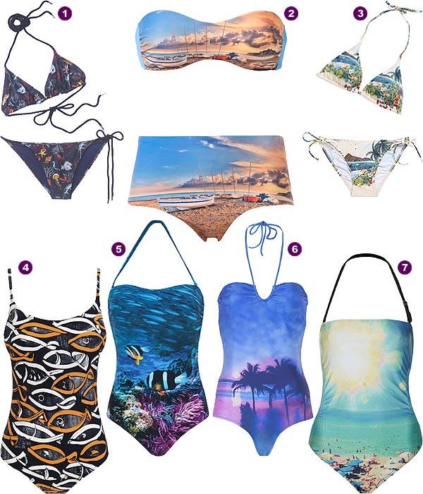32b9adea5 Baño 2013  Bañadores y bikinis que se convierten en lienzos artísticos