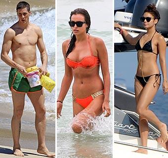 ¿Qué bañadores y bikinis prefieren los cantantes, actores, modelos... en 2013?