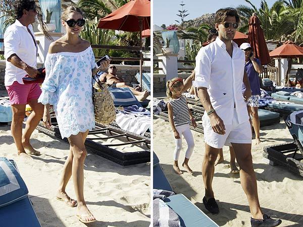 Olivia Palermo y Johannes Huebl, clase magistral de estilo en Mykonos