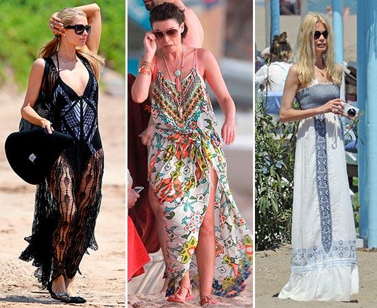 Looks de las famosas para ir a la playa