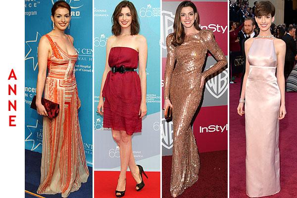 Jennifer Lawrence, Diane Kruger, Anne Hathaway y Kristen Stewart: cuatro actrices, cuatro estilos